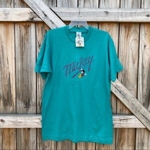 Vintage Mickey & Co Teal Deadstock NWT T-Shirt